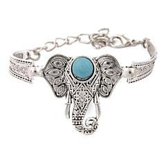 Heren Dames Vintage Armbanden Uniek ontwerp Modieus Birthstones Geboortestenen Kostuum juwelen Turkoois Legering Cirkelvorm Geometrische