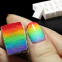 8st nagel konst verktyg lutning naglar mjuka svampar för färgblekning manikyr DIY kreativa spik tillbehör leveranser