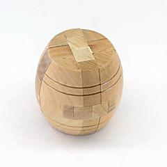 style tonneau en bois de mode jouets de décompression puzzle boucle de déverrouillage