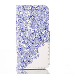For iPhone 6 Case / iPhone 6 Plus Case Wallet / Card Holder / with Stand / Flip / Pattern Case Full Body Case Flower Hard PU Leather