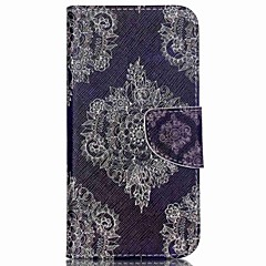 For Wiko Case Card Holder / with Stand / Flip / Pattern Case Full Body Case Lace Printing Hard PU Leather Wiko