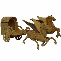 The Horse Cart Wood 3D Puzzles Diy Toys
