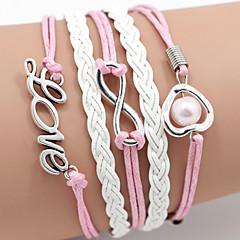 Męskie Damskie Bransoletki Wrap Przyjaźń Początkowa Biżuteria biżuteria kostiumowa Skórzany Miłość Biżuteria Na Codzienny Casual Sport