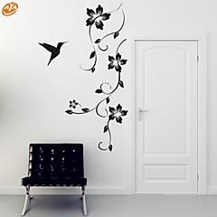 로맨스 / 패션 / 플로럴 벽 스티커 플레인 월스티커,PVC M:42*100cm / L:55*130cm