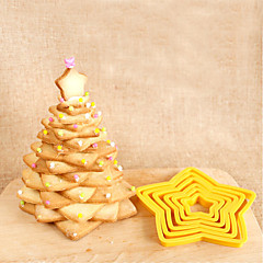 Five-pointed Star Cookies Baking Mold Die Cutting Tool Biscuit Cake Mold,Set of 6