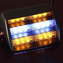 Samochód szyby żółty biały 18 Strobe alarmowy policji doprowadziła lampka błyskowa