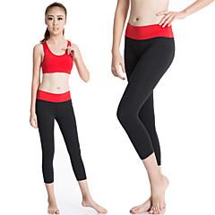Női Tajice za trčanje Osnovni sloj Gyors szárítás Tömörítés Upijanje znoja Kompressziós ruházat 3/4 Tights Nadrágok Leggingek mert Jóga