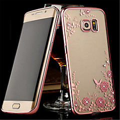 Electroplating Secret Garden Flower Diamond Phone Cases For Samsung Galaxy S5/S6/S6 Edge/S6 Edge+/S7/S7 Edge Case