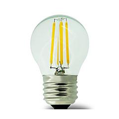 1 pcs E26/E27 4W 4 COB 400 lm Warm White G45 edison Vintage LED Filament Bulbs AC 220-240 V No flash