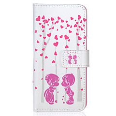 Little Lover Pattern PU Leather Material Phone Case for iPhone 6/6S/6Plus/6sPlus