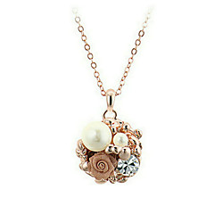 Golden Chain Necklaces Alloy / Imitation Pearl / Zircon Party / Daily / Casual 1pc Jewelry