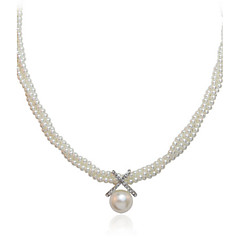 White Pearl Pendant Necklace Jewelry for Women Party Gift