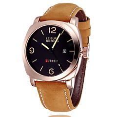 CURREN® Men's Military Watch Japanese Quartz Leather Strap