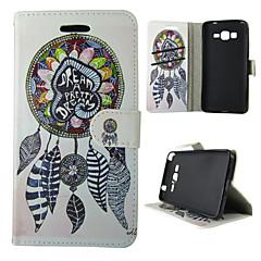 For Samsung Galaxy etui Kortholder Med stativ Flip Mønster Magnetisk Etui Heldækkende Etui Drømmefanger Kunstlæder for SamsungA5(2016)