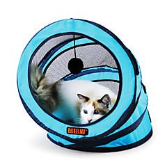 고양이 장난감 반려동물 장난감 튜브 및 터널 폴더 직물 로즈 그린 블루