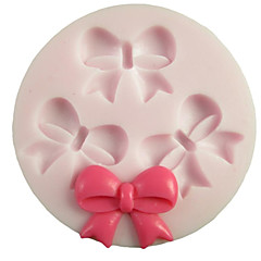 Three Holes Bowknot Round Silicone Mold Fondant Molds Sugar Craft Tools Resin flowers Mould Molds For Cakes