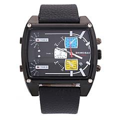 Men's Military Fashion Square Dial Leather Band Quartz Watch Wrist Watch Cool Watch Unique Watch