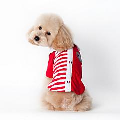 Perros Camiseta / Ropa / Ropa Rojo / Azul Verano / Primavera/Otoño Clásico / Rayas A Rayas / Moda-Lovoyager