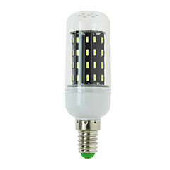 4W E14 / G9 / GU10 / E12 / E26 / E26/E27 / B22 LED Corn Lights T 56 SMD 4014 300 lm Warm White / Cool White AC 85-265 V 1 pcs