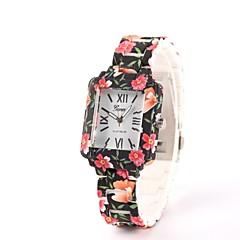 Женские Модные часы Повседневные часы Кварцевый Керамика Группа Цветы Разноцветный