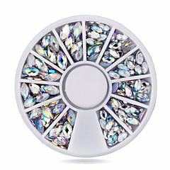 러블리-핑거-네일 쥬얼리-아크릴-1wheel oval ab nail decorations-6cm wheel