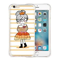 gelukkig meisje zachte transparante siliconen achterkant van de behuizing voor de iPhone 6 plus / 6s plus (verschillende kleuren)