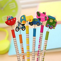 Traffic Tools Ornament Wood Pencil Set(6 PCS)
