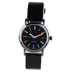 Женские Модные часы Кварцевый PU Группа Черный