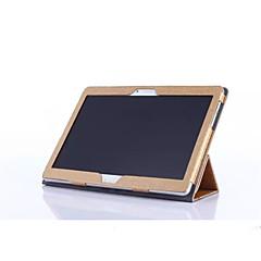 """voor Huawei MediaPad m2-10 m2-a10l m2 10 """"tablet pc staal zijde patroon pu lederen tas terug dekking van de huid"""