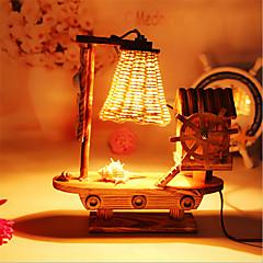 Creative Wood Windmill Light  Sailing Lamp Decoration Desk Lamp Bedroom Lamp Gift for Kid