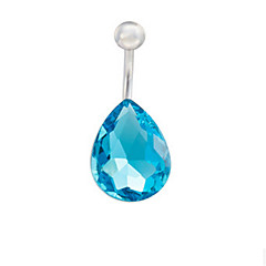 bailando anillo del botón de circón de acero inoxidable del vientre del ombligo de la joyería joyería del cuerpo perforaciones en el