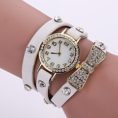 Women's Quartz Analog Strap Watch White Case Multilayer Leather Band Bracelet Wrist Fashion Watch Jewelry Cool Watches Unique Watches