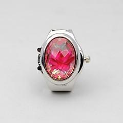 Dames Modieus horloge Kwarts Roestvrij staal Band Bloem Zilver Zwart Donkerblauw Rood Groen Lichtblauw