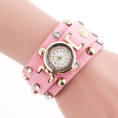 Ladies' Fashion Luxury Wristwatch Dress/Popular Watches Casual Leisure Women's Quartz Wristwatch with Rhinestone Dial