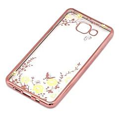 hemmelig hage blomst butterfly diamant myk TPU Deksel til Samsung Galaxy a5 / A7 / A8 / A9