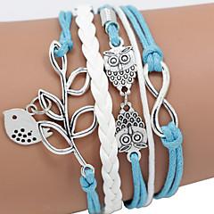 Lederen armbanden Uniek ontwerp Modieus Met de hand gemaakt Dierenvorm Sieraden Vogel Groen Blauw Schermkleur Sieraden Voor Kerstcadeaus1