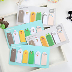 Animal Thumb Pattern Self-Stick Note(1 PCS Random Color)