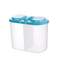 Lidded Refrigerator Storage Box(L 16.5x9.5x14cm Assorted Color)