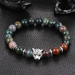 New Arrival Multicolors Nature Stone Leopard Bracelet Strand Bracelets Daily / Casual 1pc
