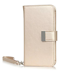 For iPhone 6 Case / iPhone 6 Plus Case Wallet / Card Holder / with Stand / Flip / Pattern Case Full Body Case Solid Color Hard PU Leather