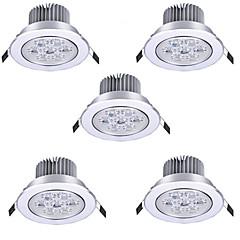 7W Upotetut valaisimet Upotettu jälkiasennus 7 Teho-LED 750 lm Lämmin valkoinen Kylmä valkoinen AC 85-265 V 5 kpl
