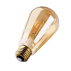 חלק 1 GMY E26/E27 2W 2 COB ≥180 lm לבן חם ST64 edison וינטאג' נורת להט לד AC 220-240 V