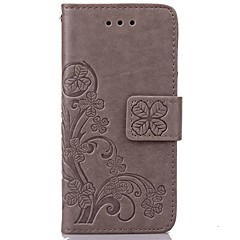 iPhone 7 Plus Clover Leather Pattern High Quality PU Leather Wallet Case with Hand Line for iPhone 5/5S/SE