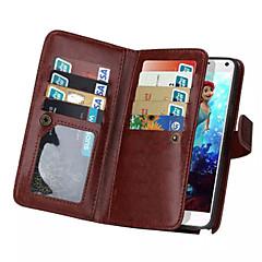For Samsung Galaxy Note7 Kortholder Pung Flip Magnetisk Etui Heldækkende Etui Helfarve Kunstlæder for Samsung Note 7 Note 5 Note 4 Note 3