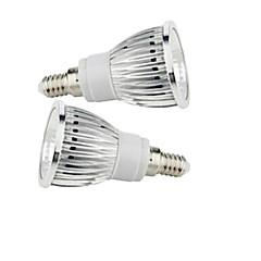 2 pcs  E14 9W 1X COB 50-150LM 2800-3500/6000-6500K Warm White/Cool White Spot Lights AC 85-265V