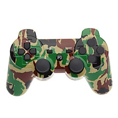 Manette Bluetooth Dual-Shock Kaki V4.0 pour PS3 (Camouflage)