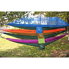 Ademend-Hangmat(Blauw / Licht Groen / Paars / Oranje,2 Persoons)