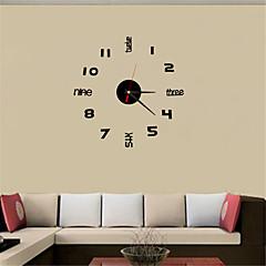 2016 Simple Fashion English Digital TV Background Wall Clock Acrylic Crystal Clock