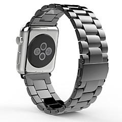 Faixa de relógio para relógio de maçã pulseira de fivela de borboleta de aço inoxidável com botão duplo