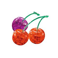 3d wiśnie kryształ puzzle klocki diy kreatywne zabawki edukacyjne dla małych dzieci zabawki